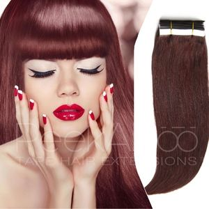 """PeekABoo Hair Extensions Other - 100% REMY Tape In Hair Extensions 20"""" Dark Auburn"""